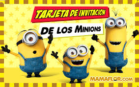 Tarjeta Invitacion De Los Minions Para Imprimir Manualidades