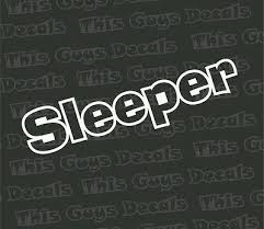 Sleeper Vinyl Decal Jdm Stickers Illest Car Window Graphic Boost Slammed Turbo 3 25 Picclick