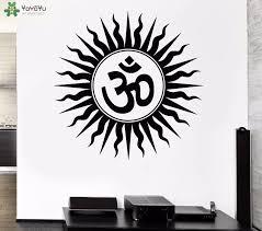 Yoyoyu Wall Decal Om Sign Hindu Religious Vinyl Wall Stickers Home Decor Yoga Studio Art Mural Namaste Removable Wallpaper Sy858 Removable Wallpaper Stickers Home Decorvinyl Wall Stickers Aliexpress
