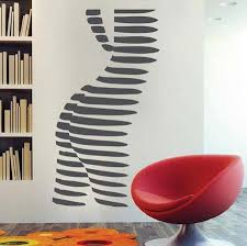 Abstract Female Body Wall Decal Trendy Wall Designs