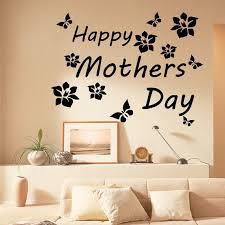 Shop Quote Happy Mother S Day Vinyl Sticker Interior Design Art Mural Kids Room Nursery Decor Sticker Decal Size 44x52 Color Black On Sale Overstock 14765952