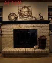 house paint brick fireplace makeovers