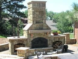 outside stone fireplace idea outdoor