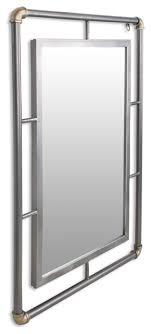 rectangular mirror metal piping frame