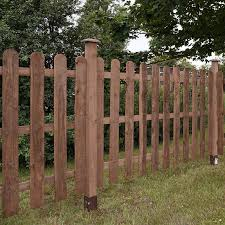 3ft X 6ft Round Top Picket Pressure Treated Fence Panel One Garden