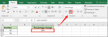 difference between two numbers in excel