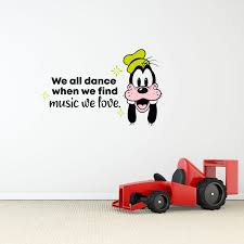 Design With Vinyl Goofy Music We Love Vinyl Wall Decal Wayfair