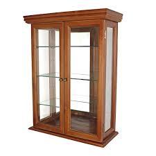 hardwood glass wall mounted storage