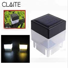Claite Solar Powered Fence Light Waterproof Outdoor Street Light Led Post Cap Lamp Garden Yard Pool Lamp Square Emergency Lights Path Lights Aliexpress