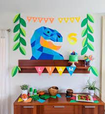 dinosaur birthday party geometric