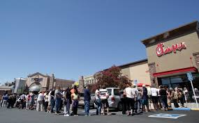 Customers flock to support Chick-fil-A in Fairfield