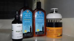 wash day routine using agadir argan oil