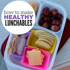 how to make healthy lunchables