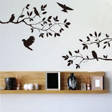 Birds Tree Branches Removable Vinyl Art Decals Wall Sticker Simple Modern Decor Wall Sticker Modern Decortree Branch Aliexpress