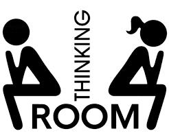 Maydahui 2pcs Thinking Room Wall Decals 8 6 Inch Sticker Decor Black Art Vinyl Mural Sign For Cafe Shop Office Toilet Hotel Closestool Bathroom Salon Home