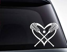 Amazon Com Tamengi Lacrosse Sticks Heart Love Lacrosse Pvc Decal Sticker Car Decal Car Sticker Laptop Decal Laptop Sticker 15inch Home Kitchen