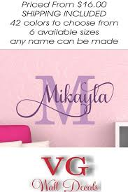 Personalized Name Wall Decal Girl Baby Name Decal For Wall Baby Girl Nursery Name Decal Girls Bedroom Monogram Wall Decal Custom Name Decal Monogram Wall Decals Name Wall Decals Wall Decals