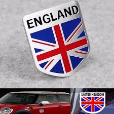 Aluminum England Uk Flag Shield Emblem Badge Car Sticker Decal Decor Universal For Truck Auto Sale Banggood Com