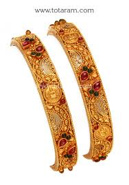22k gold lakshmi k bangles set