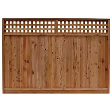 Signature Development 6 Ft H X 8 Ft W Western Red Cedar Checker Lattice Top Fence Panel 54244 The Home Depot