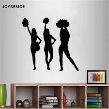 Joyreside Cheerleaders Wall Sports Decals Vinyl Sticker Design Home Locker Room Living Room Bedroom Decorations Art Mural A1681 Wall Stickers Aliexpress
