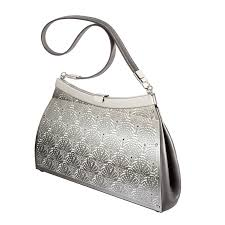 Wendy Stevens Fiddlehead Fern Gray Leather Bag For Sale at 1stdibs