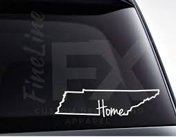 Tennessee Tn Home State Outline Vinyl Decal Sticker