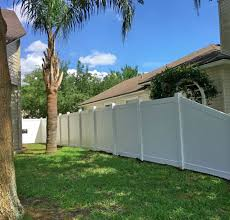 White Vinyl Fence Jacksonville Featured Installation Superior Fence Rail Inc