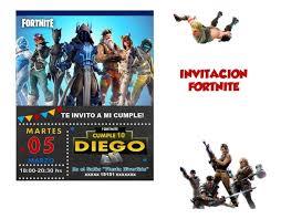 Invitacion Fortnite Cumpleanos 150 00 En Mercado Libre
