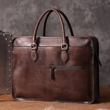 luxury vintage leather briefcase