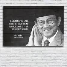 walldecor poster bj habibie quotes xcm shopee