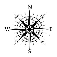 16cm 16cm Nswe Compass Wind Rose Bardian Vinyl Decal Car Stickers Black Silver S6 3530 Shop The Nation