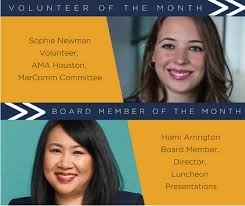 AMA Houston - Congratulations to Volunteer of the Month... | Facebook