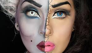 vanessa split face makeup tutorial
