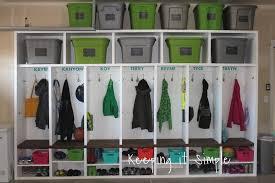 Diy Garage Mudroom Lockers With Lots Of Storage Keeping It Simple