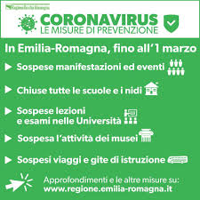 Coronavirus, scuole chiuse fino al primo marzo in Emilia Romagna ...