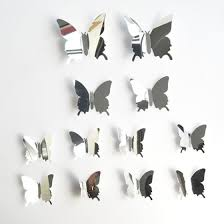 Shop 12 Pcs 3d Mirror Butterfly Wall Stickers Decal Wall Art Removable Room Party Wedding Decor Home Wall Stickers For Kids Room Mural Online From Best Mirrors On Jd Com Global Site