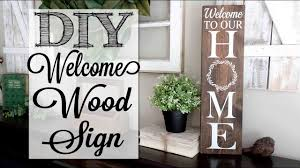 Diy Welcome To Our Home Wood Sign Youtube