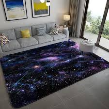 Galaxy Space Stars Pattern Carpets For Living Room Bedroom Area Rug Kids Room Play Mat Soft Flannel 3d Printed Home Large Carpet Carpet Aliexpress