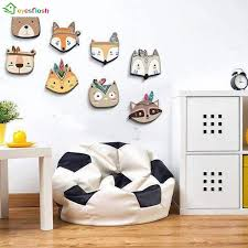 Nordic Style Kids Room Decorations Wood Plastic Board Fox Rabbit Cartoon Animal Head Wall Hanging Decorations Gift For Children Decorative Boards Aliexpress