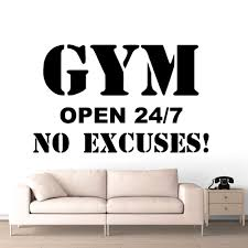 Hot Sale Gym Stickers Frase Removable Wall Stickers For Gym Fitness Room Wall Art Decals Gym Sticker Vinyl Murals Pegatina Lw732 Wall Stickers Aliexpress