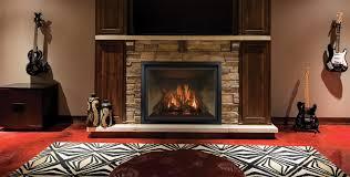 propane fireplace insert into