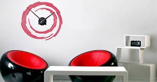 Time Spiral Clock Wall Sticker Ons Dezign With A Z