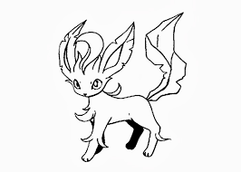 Pokemon Coloring Pages Leafeon