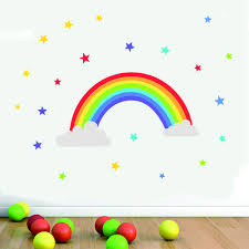 Rainbow Wall Decals Removable Tags Page 2 Vinyl Wall Coverings Rainbow Stickers For Art Design Decal Pastel With Name Custom