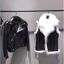 genuine sheepskin leather jacket with