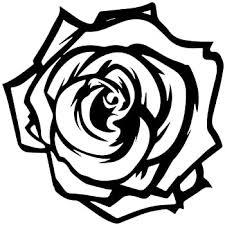 Amazon Com Rose Decal Sticker Black Decal Sticker Vinyl Car Home Truck Window Laptop Automotive