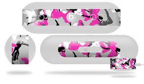 Beats Pill Plus Sexy Girl Silhouette Camo Hot Pink Fuschia Wraptorskinz