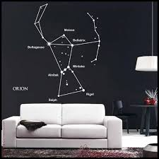 Astronomy Wall Decal Orion Constellation Sticker With Main Star Names And Bow Star Sticker Kid S Bedroom Dec Orion Constellation Constellations Wall Decals