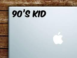 90s Kid Laptop Wall Decal Sticker Vinyl Art Quote Macbook Apple Decor Boop Decals